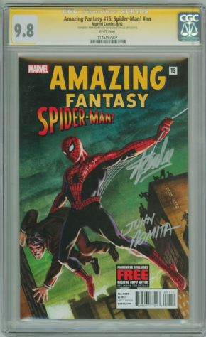 Amazing Fantasy #15 Spider-man (2012) CGC 9.8 Signature Series Signed Stan Lee John Romita Marvel